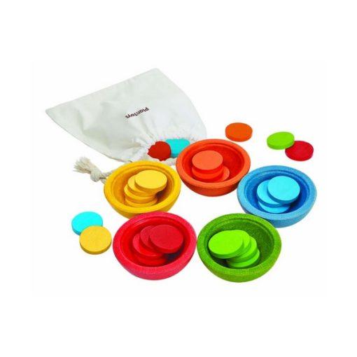 pièces colorées à trier