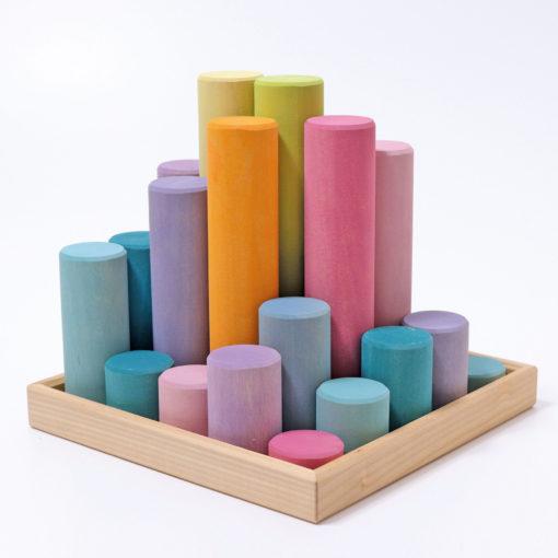 Plateau de tri 12 cylindres pastel - GRIMM'S
