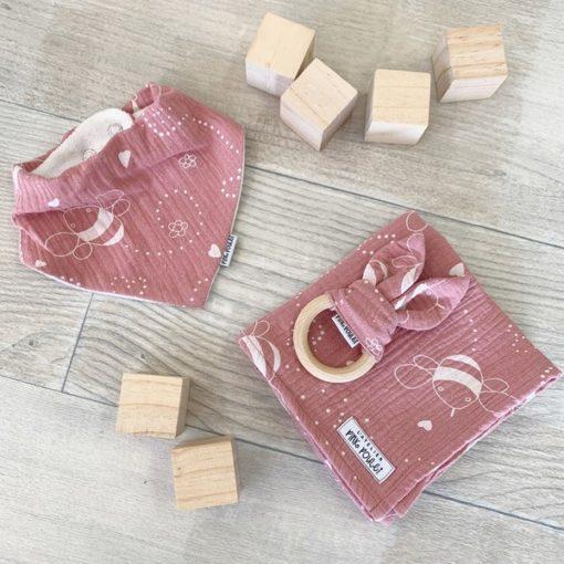 Kit cadeau - Bees Old Pink - Pink Poulet