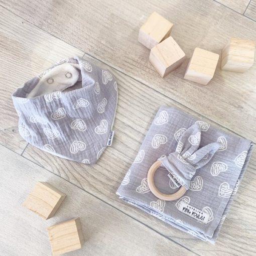 Kit cadeau - Heart Grey - Pink Poulet