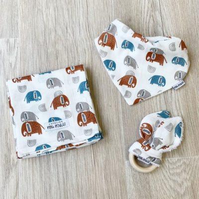 Kit cadeau - Éléphant - Pink Poulet