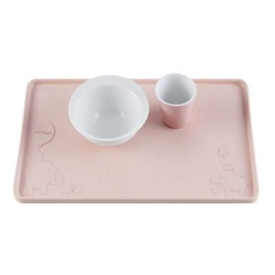 Set de table ventousé en caoutchouc naturel - Peach - HEVEA