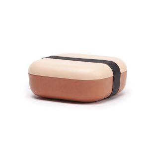 Boîte Bento Carrée - Blush / Terracotta
