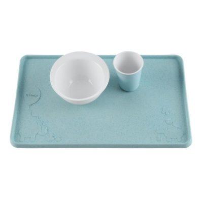 Set de table ventousé en caoutchouc naturel - Blue - HEVEA
