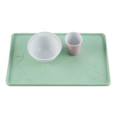 Set de table ventousé en caoutchouc naturel - Mint - HEVEA