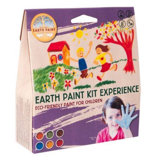 Natural Earth Paint - grand lot avec 3 pinceaux et 6 couleurs