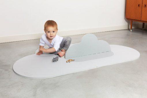 Petit tapis de jeu - Nuage Gris