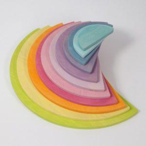 Demi-cercles pastel