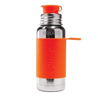 Gourde en inox - Isotherme - Orange- 475 ml
