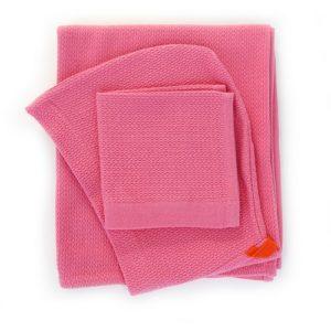 Coffret cape de bain et débarbouillette - Flamingo