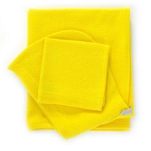 Coffret cape de bain et débarbouillette - Lemon