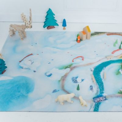 """[Précommande] Tapis de jeu """"Etoile des neiges"""" - Moyen 120 x 90 cm"""