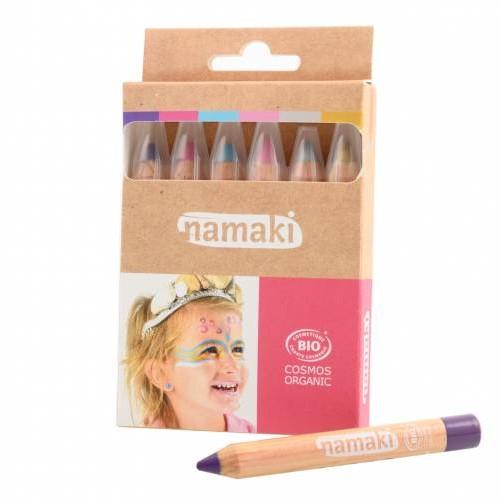 Kit de 6 couleurs Mondes enchantés -  Crayons de maquillage - NAMAKI