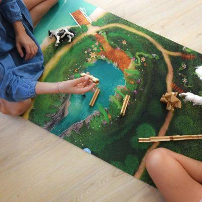 """Tapis de jeu """"Lagoon Féérique"""" Petit 90 x 60 cm"""