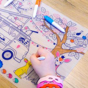 Set de table à colorier - Dream Van