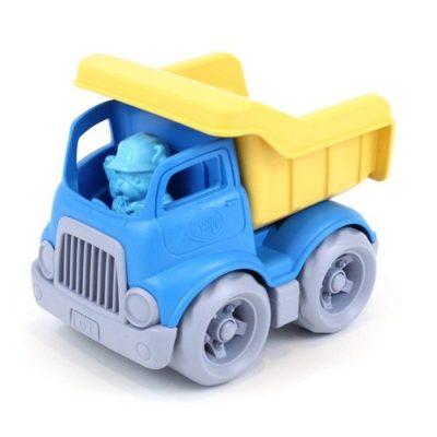 Petit camion benne bleu/jaune