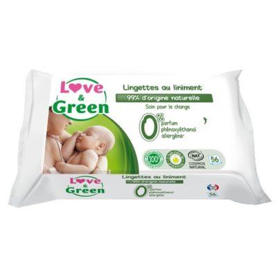 Lingettes bébé au liniment - LOVE & GREEN