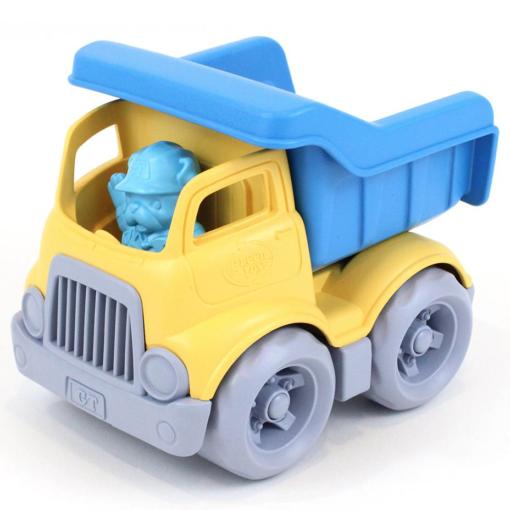Petit camion benne jaune/bleu