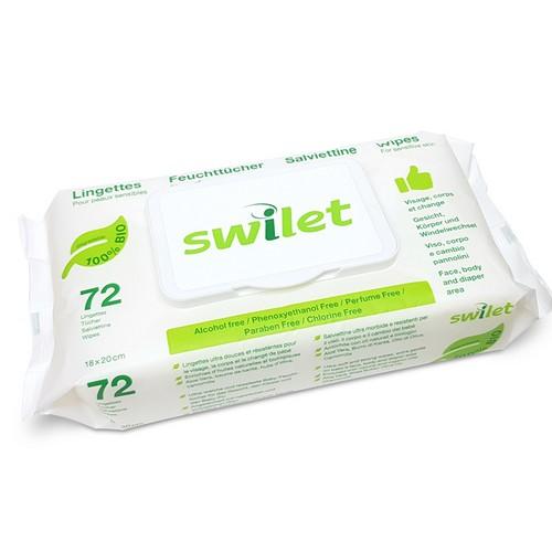 Lingettes humides BIO - 72 pièces - Swilet