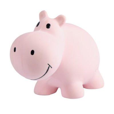 Hippopotame en caoutchouc naturel