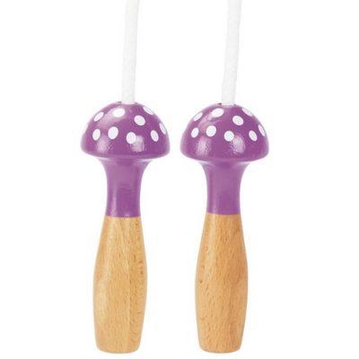 Corde à sauter en bois - Champignon violet