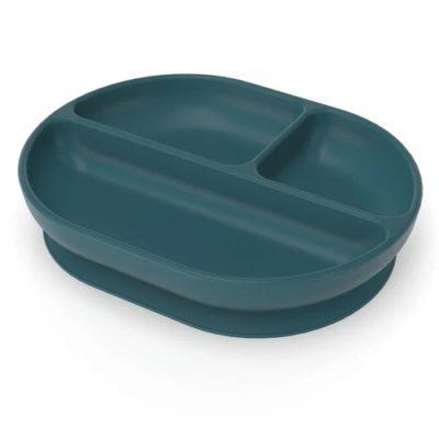 Assiette compartimentée en Silicone - Blue Abyss