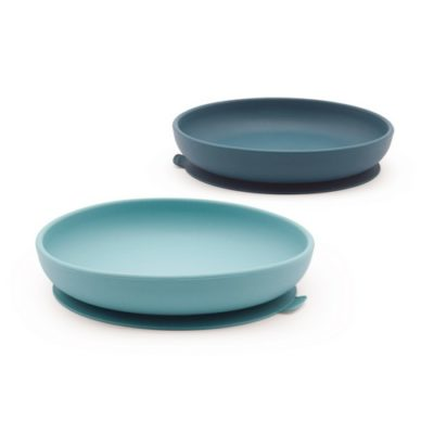 Set 2 assiettes ventouses en Silicone - Blue Abyss/Lagoon