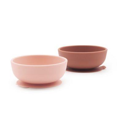 Set 2 bols ventouses en Silicone - Blush/Terracotta